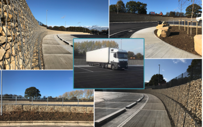 VIDEO: Gabions used to extend HGV area at Cobham Services