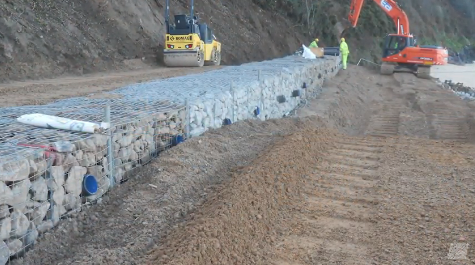 Video: Gabion Retaining Wall – Carbis Bay, UK