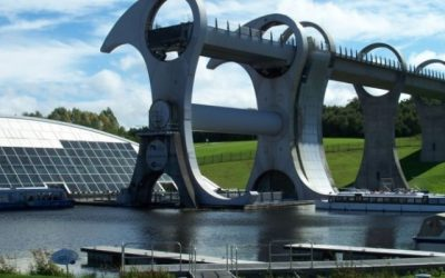 Geotex at the Falkirk Wheel-full to the brim again!